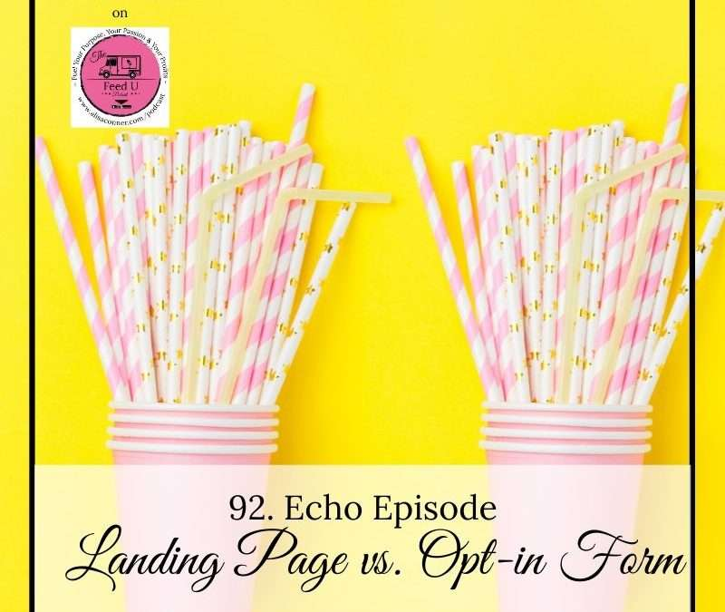 92. Echo Episode: Landing Page vs Opt-in Form