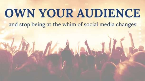 Own your audience optin image